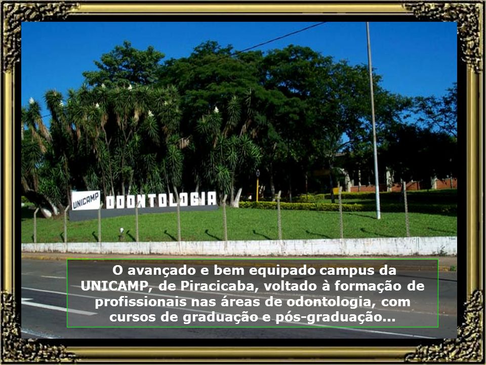 O avançado e bem equipado campus da UNICAMP, de Piracicaba, voltado à formação de profissionais nas áreas de odontologia, com cursos de graduação e pós-graduação...