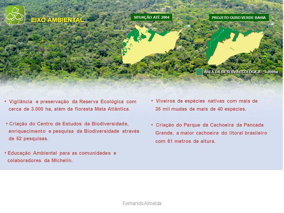 EIXO AMBIENTAL • Viveiros de espécies nativas com mais de