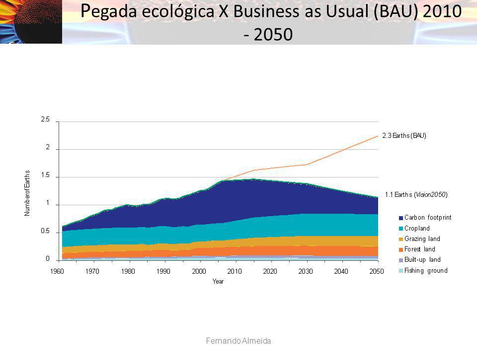 Pegada ecológica X Business as Usual (BAU) 2010 - 2050