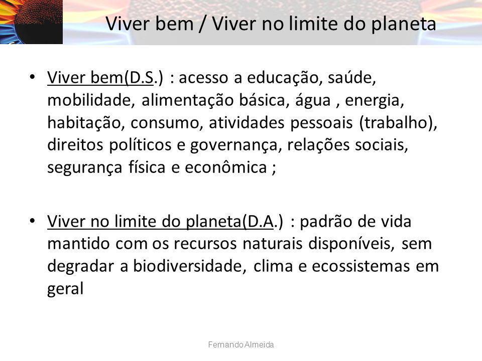 Viver bem / Viver no limite do planeta