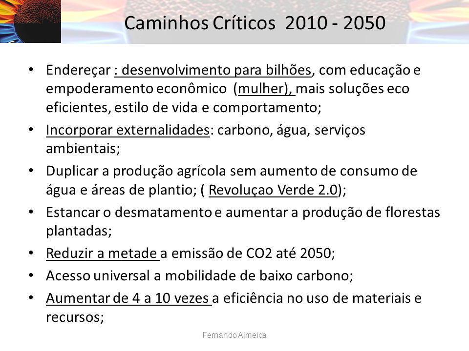 Caminhos Críticos 2010 - 2050