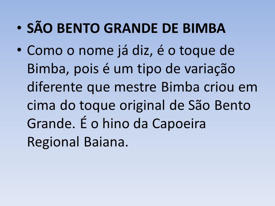 SÃO BENTO GRANDE DE BIMBA