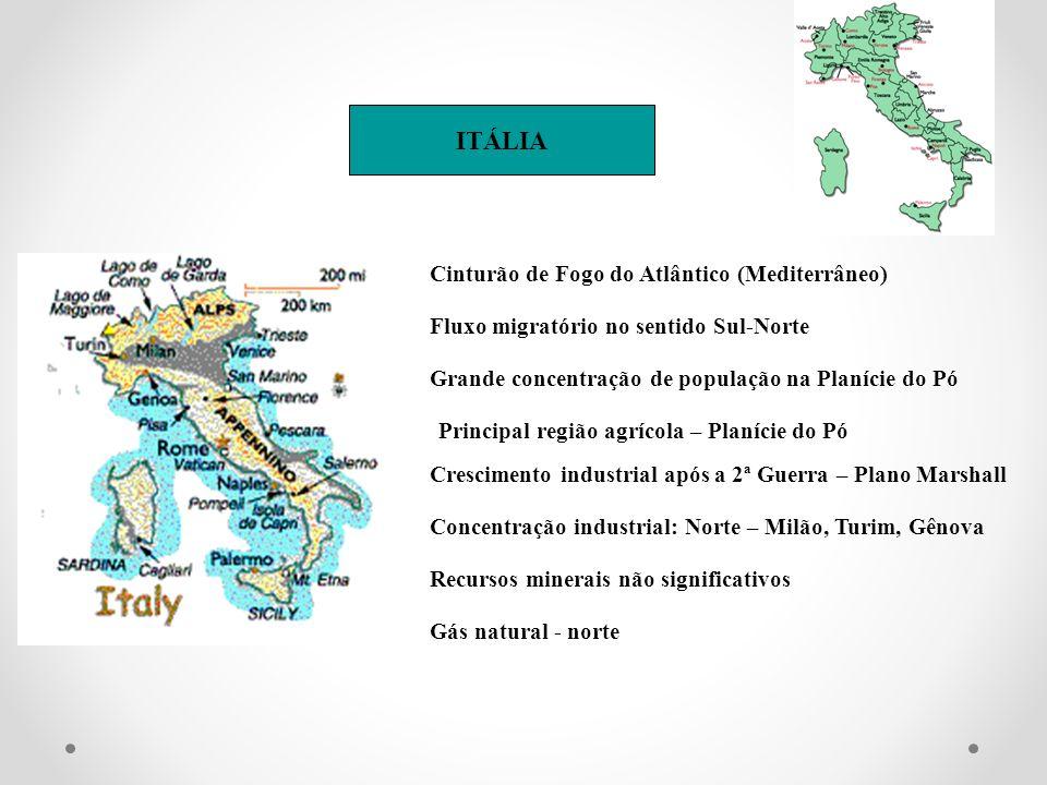 ITÁLIA Cinturão de Fogo do Atlântico (Mediterrâneo)