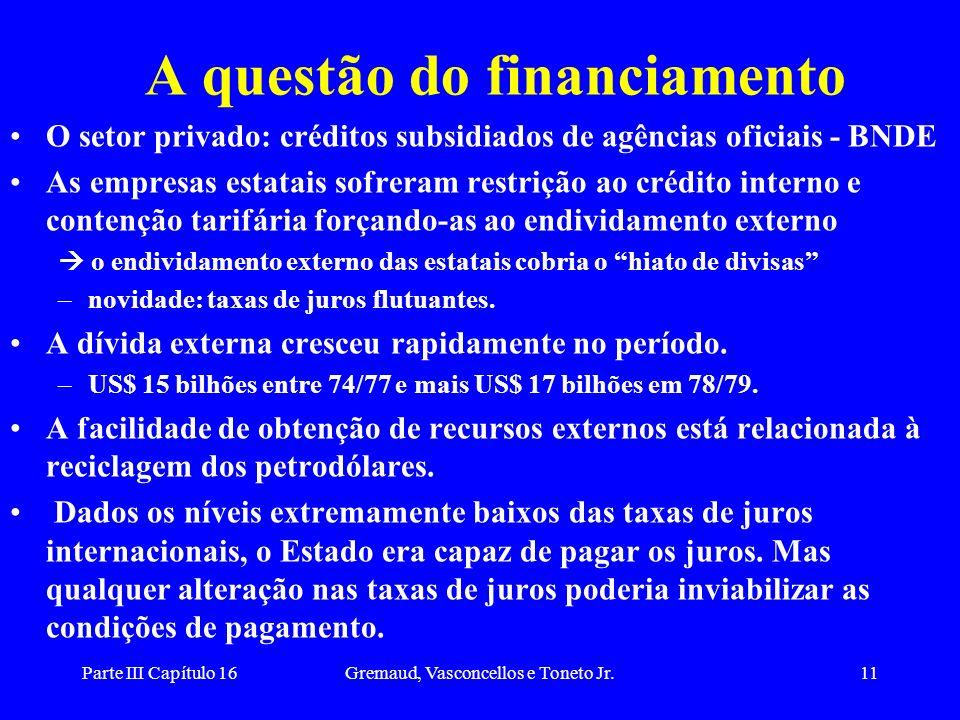 A questão do financiamento