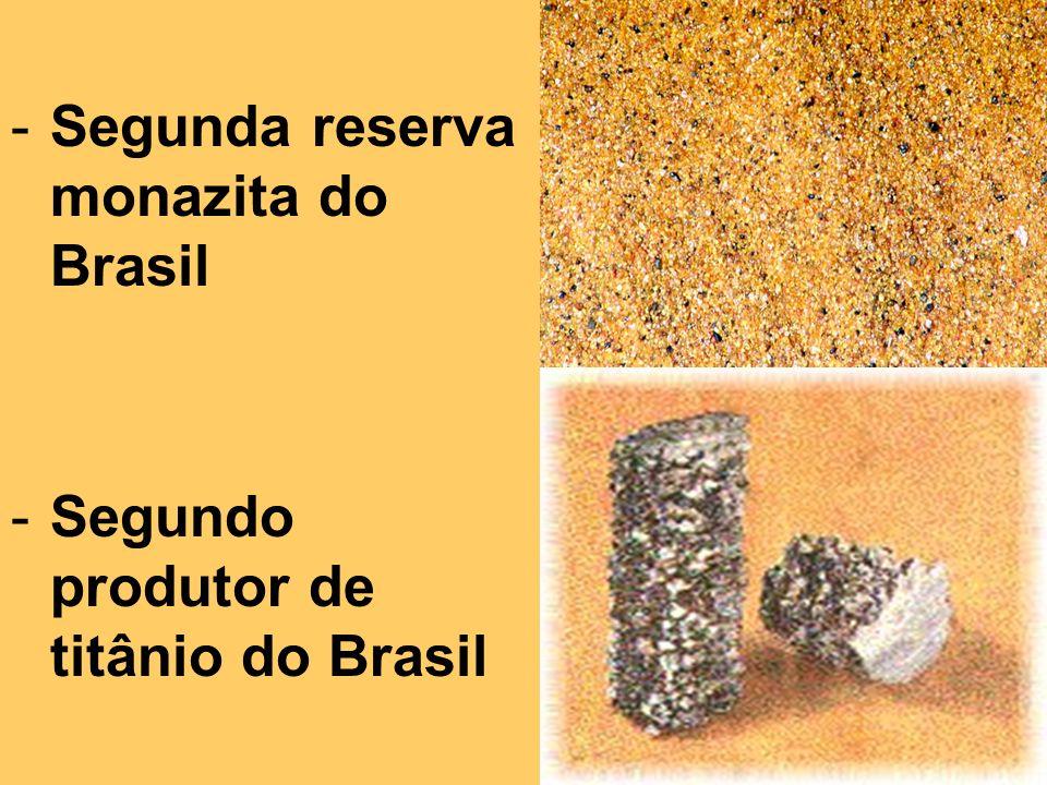 Segunda reserva monazita do Brasil