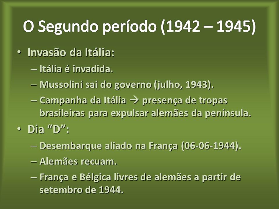 O Segundo período (1942 – 1945) Invasão da Itália: Dia D :