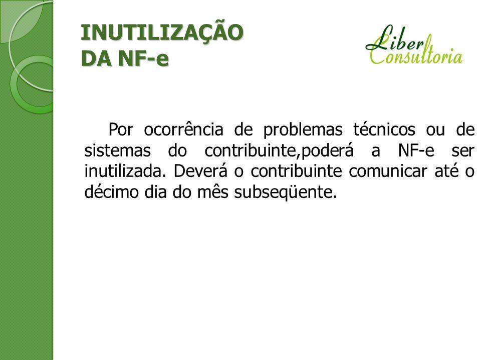 INUTILIZAÇÃO DA NF-e