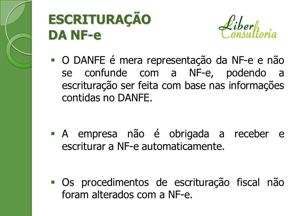 ESCRITURAÇÃO DA NF-e