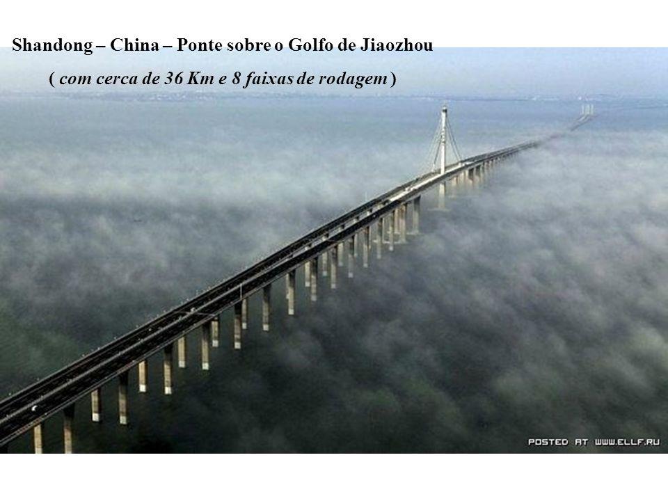 Shandong – China – Ponte sobre o Golfo de Jiaozhou