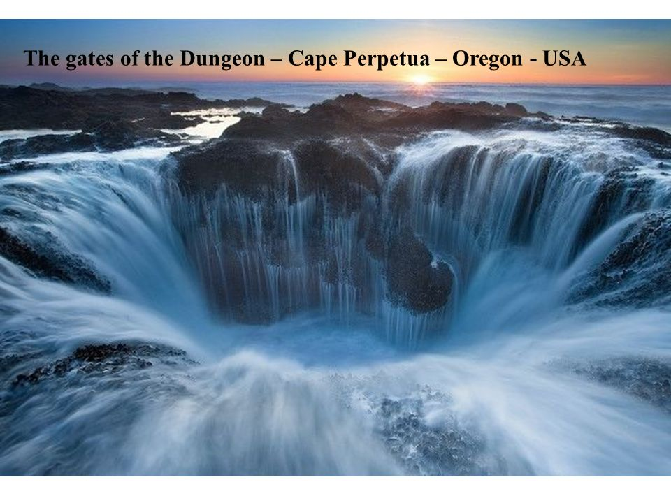 The gates of the Dungeon – Cape Perpetua – Oregon - USA