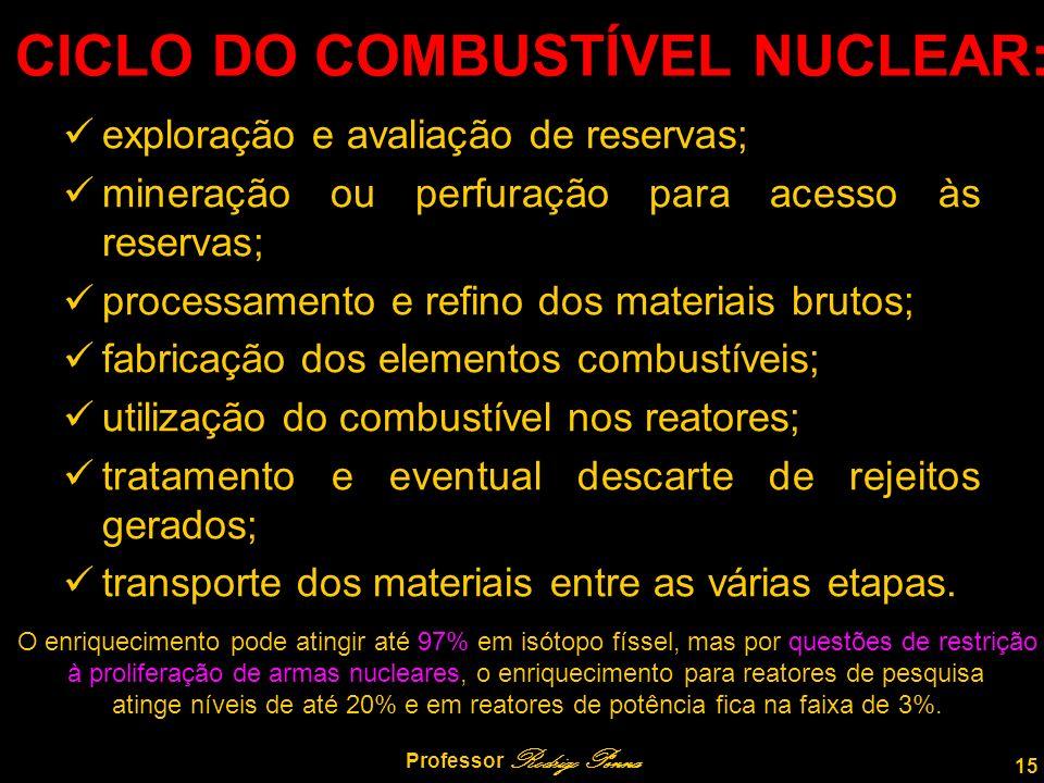 CICLO DO COMBUSTÍVEL NUCLEAR:
