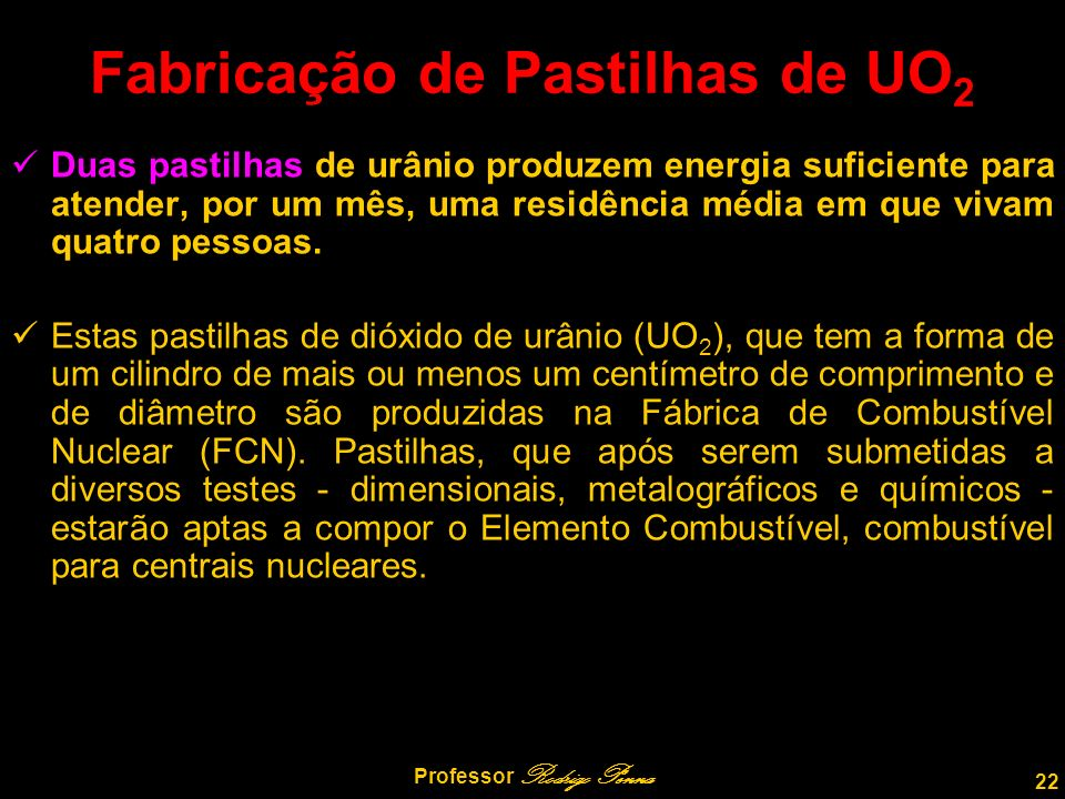 Fabricação de Pastilhas de UO2