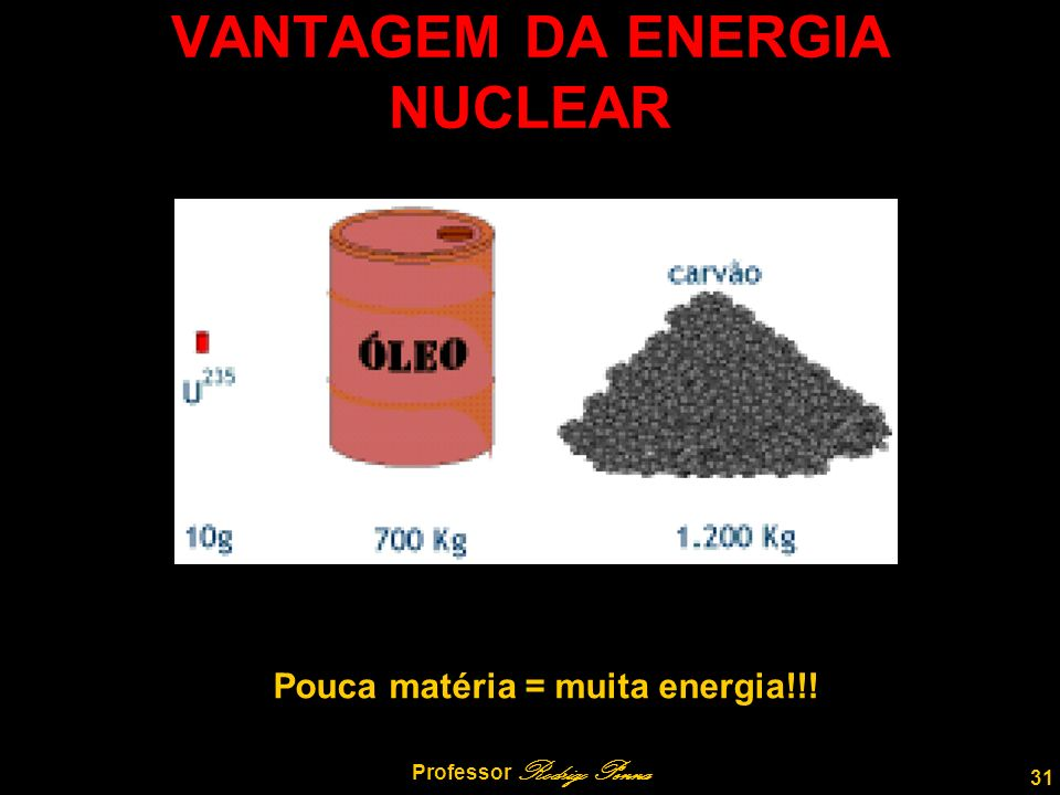 VANTAGEM DA ENERGIA NUCLEAR