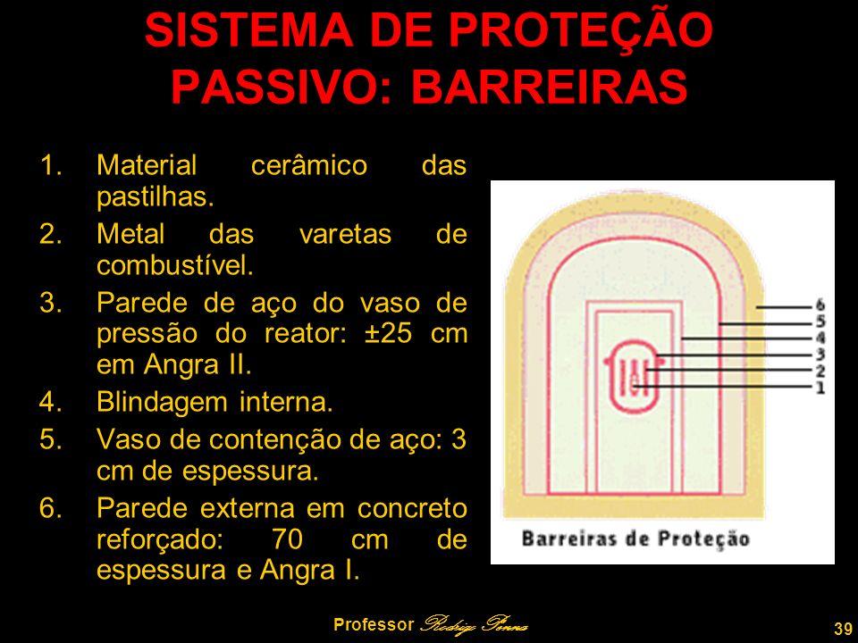 SISTEMA DE PROTEÇÃO PASSIVO: BARREIRAS