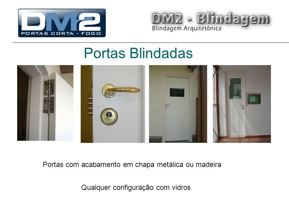 Portas Blindadas Portas com acabamento em chapa metálica ou madeira