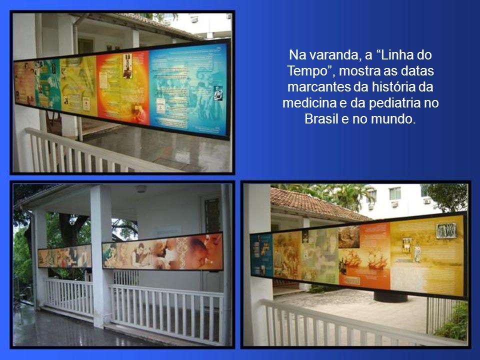 Na varanda, a Linha do Tempo , mostra as datas marcantes da história da medicina e da pediatria no Brasil e no mundo.