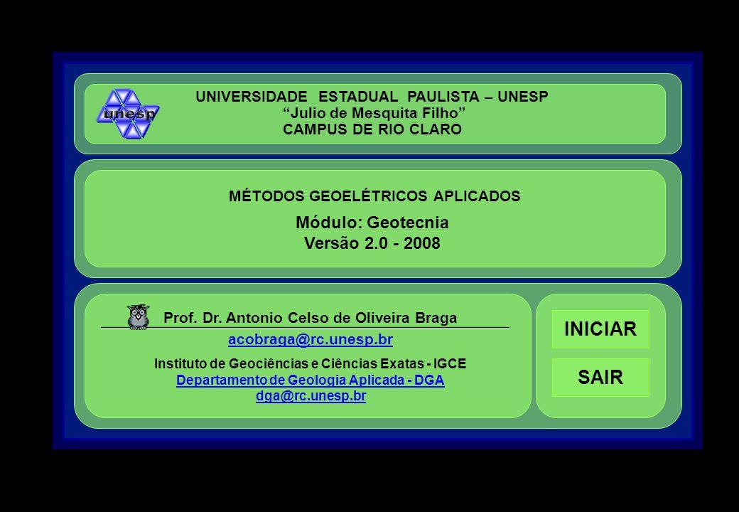 INICIAR SAIR Módulo: Geotecnia Versão 2.0 - 2008