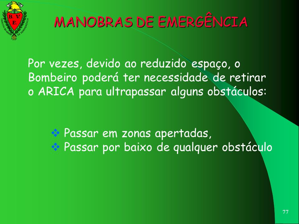 MANOBRAS DE EMERGÊNCIA