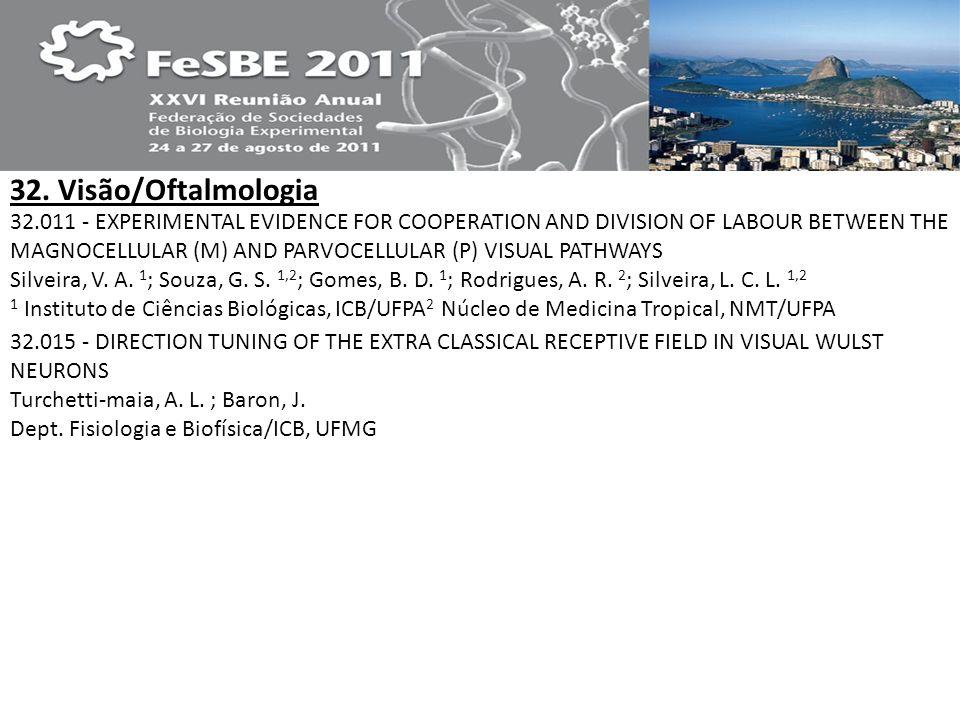 32. Visão/Oftalmologia