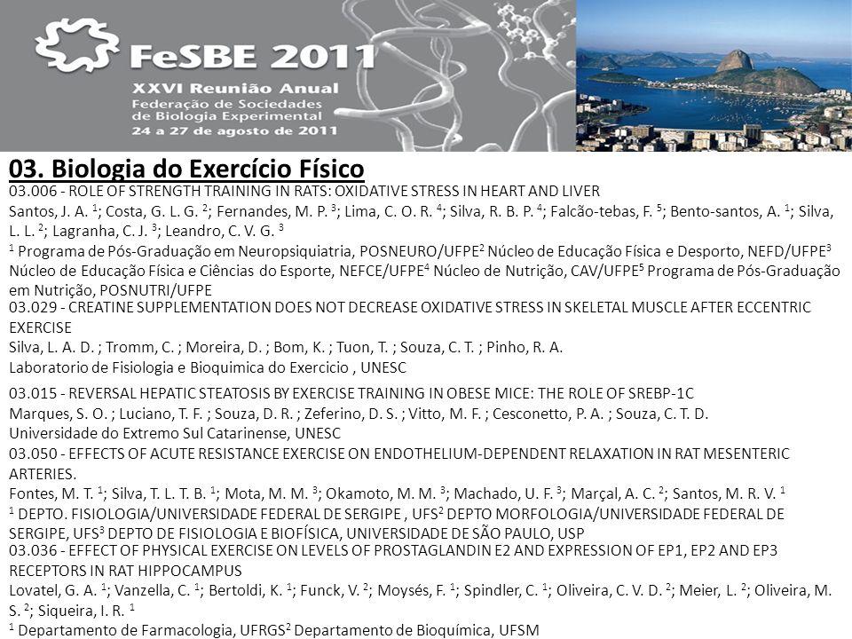 03. Biologia do Exercício Físico
