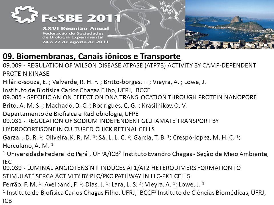09. Biomembranas, Canais iônicos e Transporte