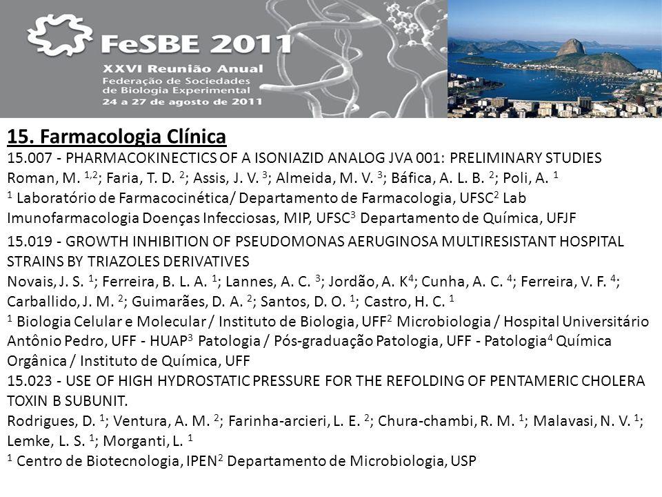 15. Farmacologia Clínica