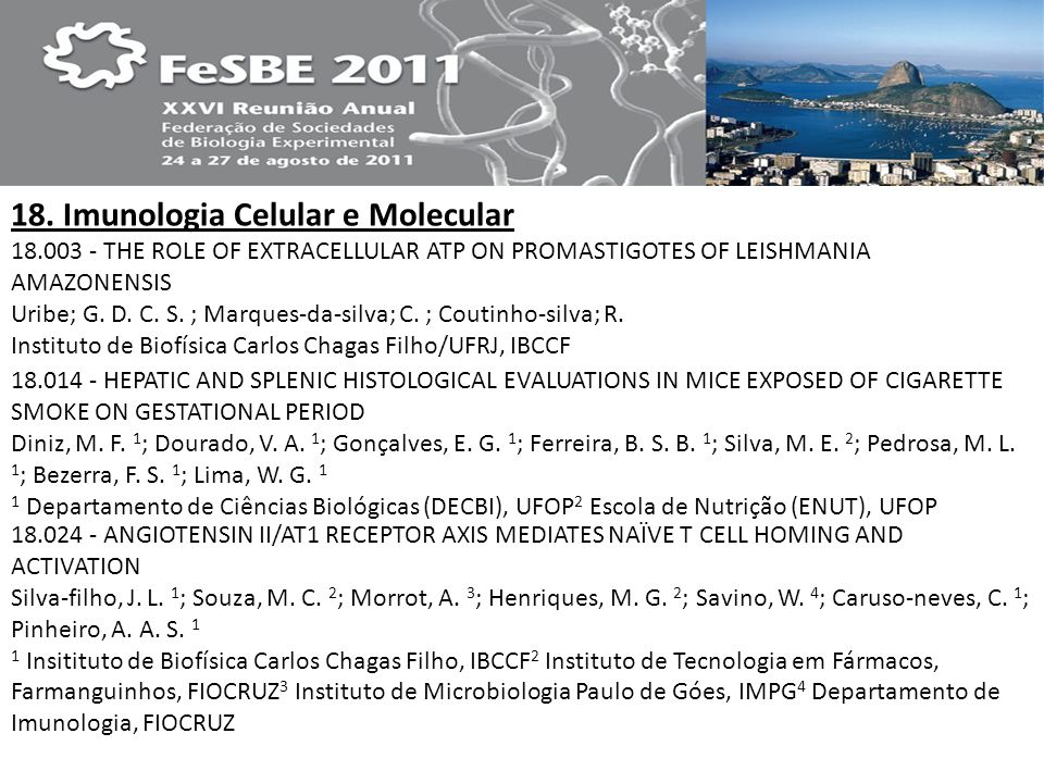 18. Imunologia Celular e Molecular
