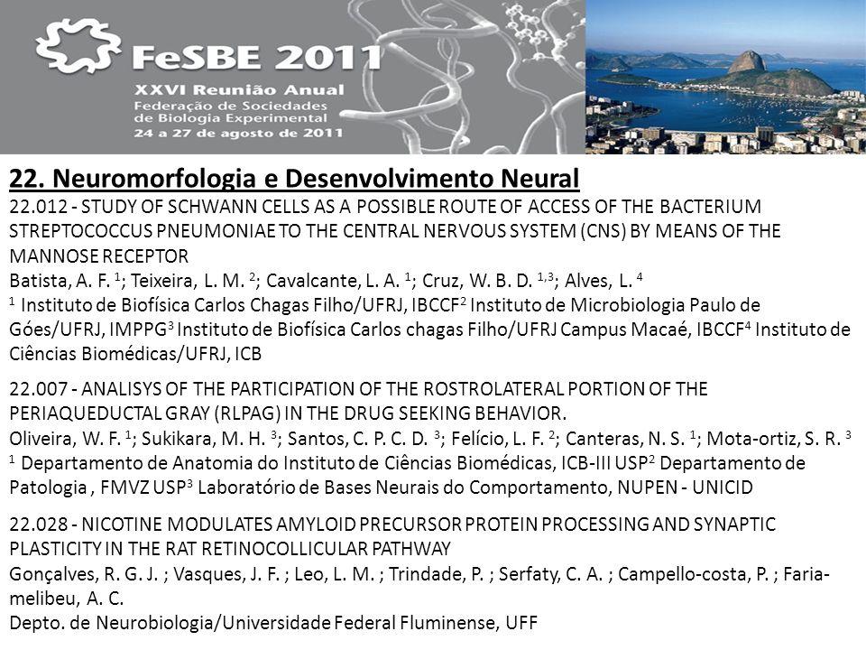 22. Neuromorfologia e Desenvolvimento Neural
