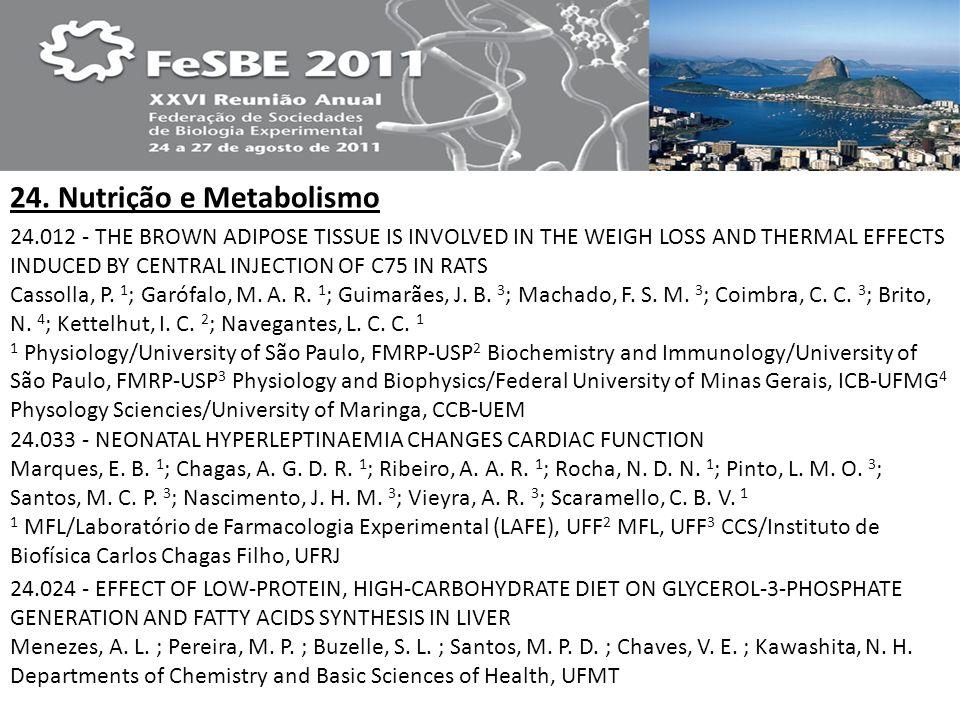 24. Nutrição e Metabolismo