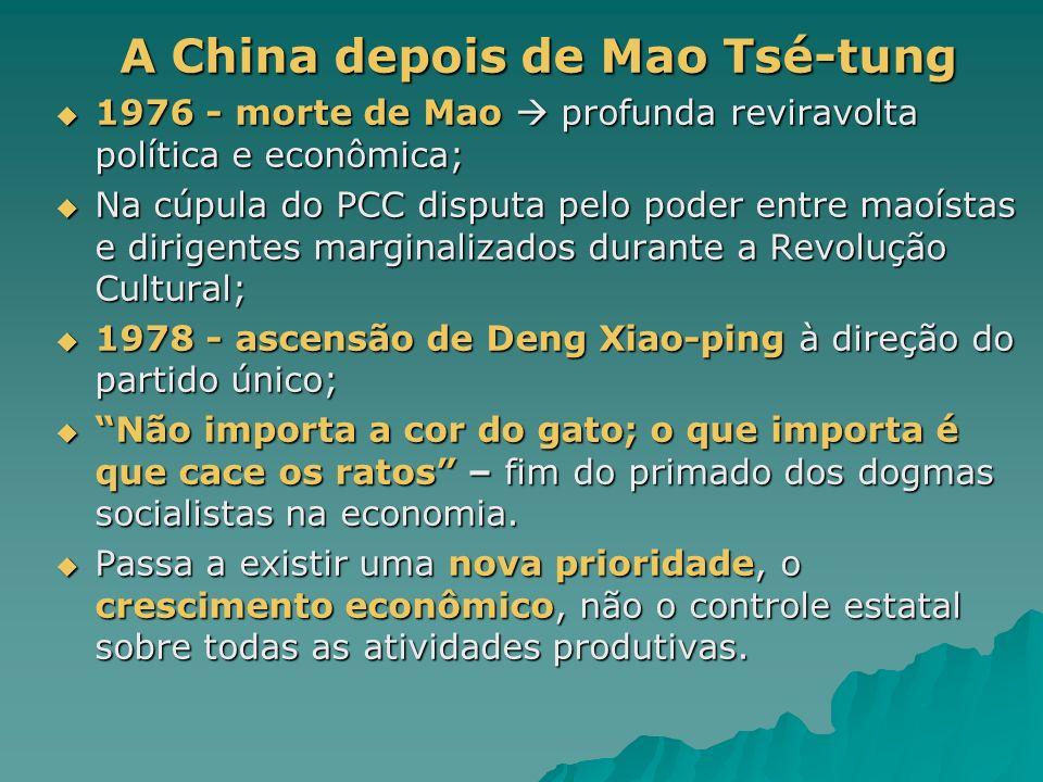 A China depois de Mao Tsé-tung