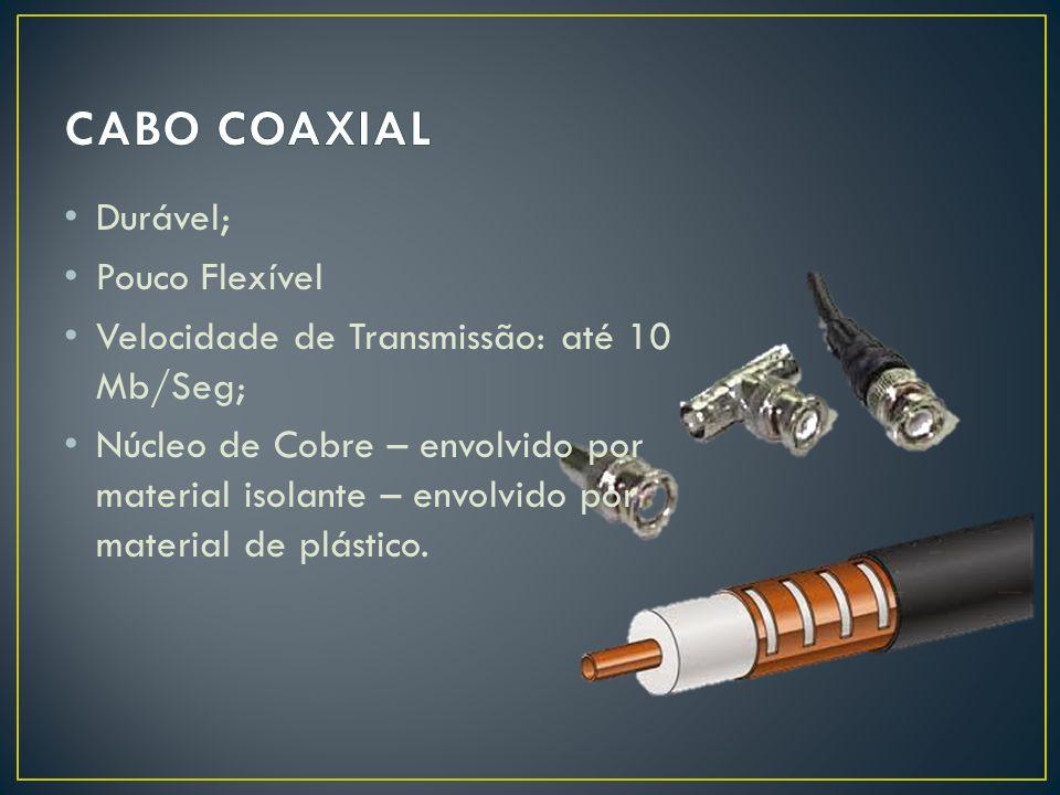 CABO COAXIAL Durável; Pouco Flexível