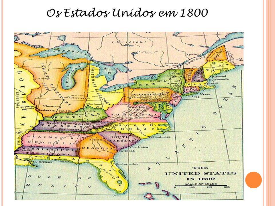 Os Estados Unidos em 1800