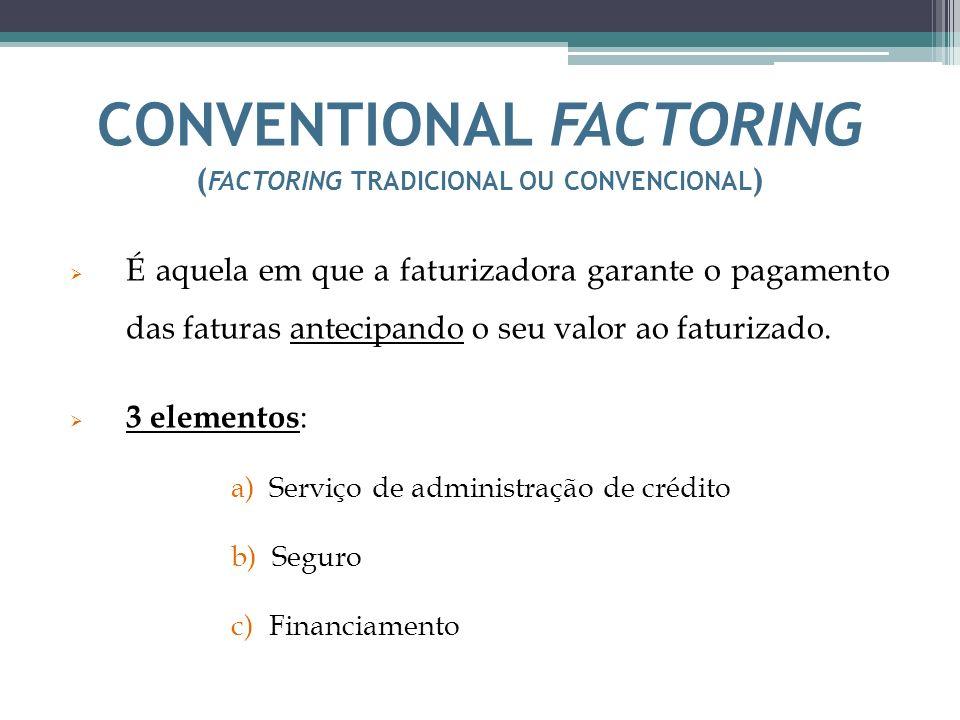 CONVENTIONAL FACTORING (factoring tradicional ou convencional)