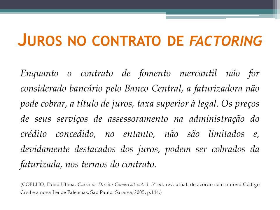 Juros no contrato de factoring