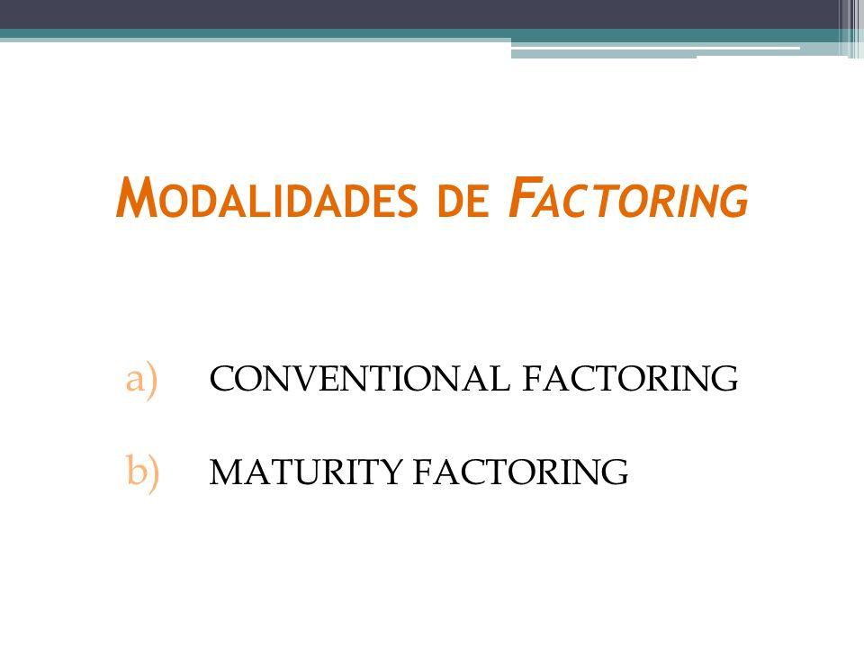 Modalidades de Factoring
