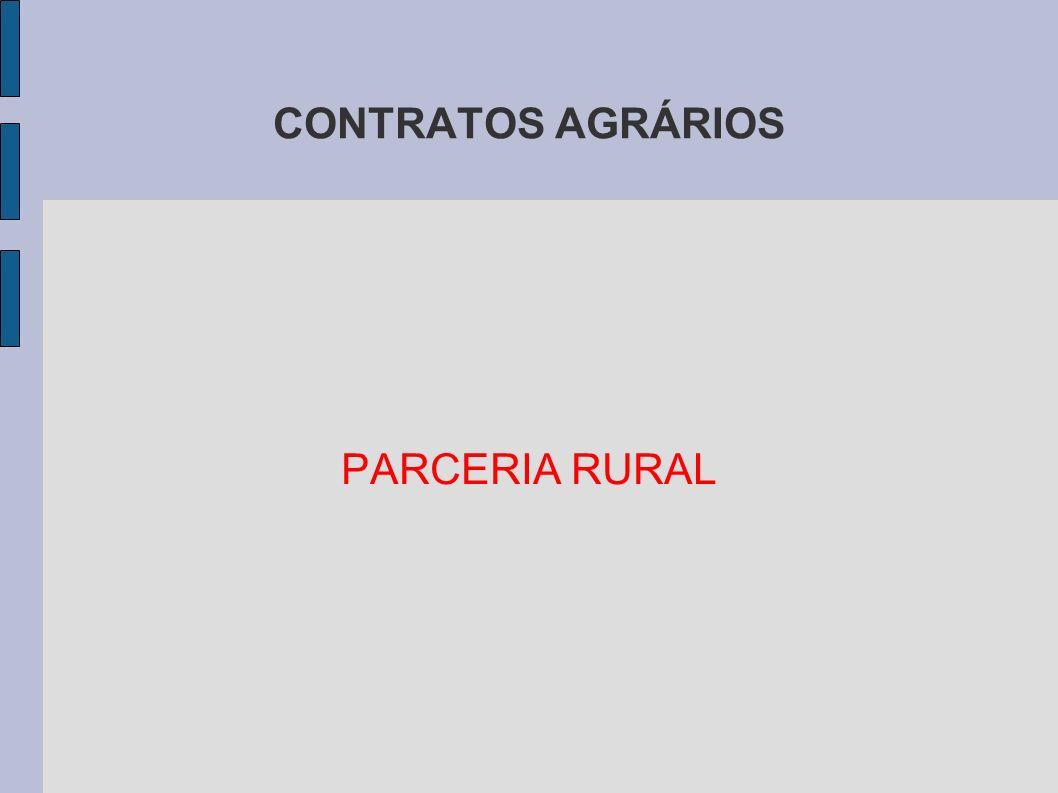 CONTRATOS AGRÁRIOS PARCERIA RURAL