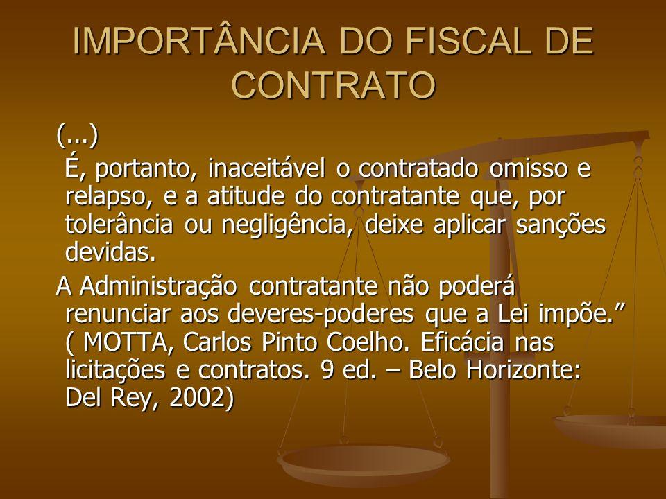 IMPORTÂNCIA DO FISCAL DE CONTRATO