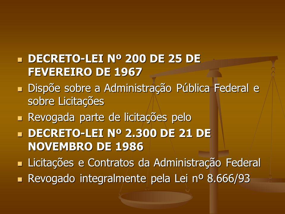 DECRETO-LEI Nº 200 DE 25 DE FEVEREIRO DE 1967