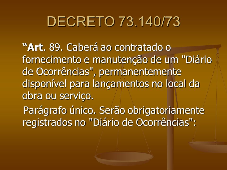 DECRETO 73.140/73