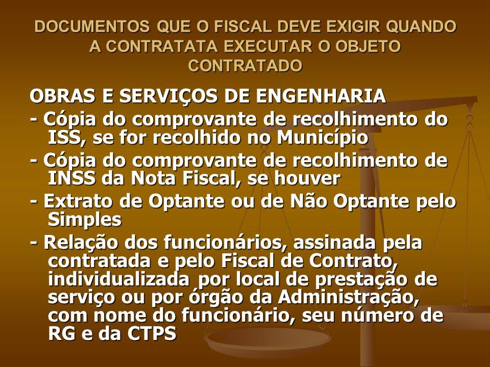 OBRAS E SERVIÇOS DE ENGENHARIA