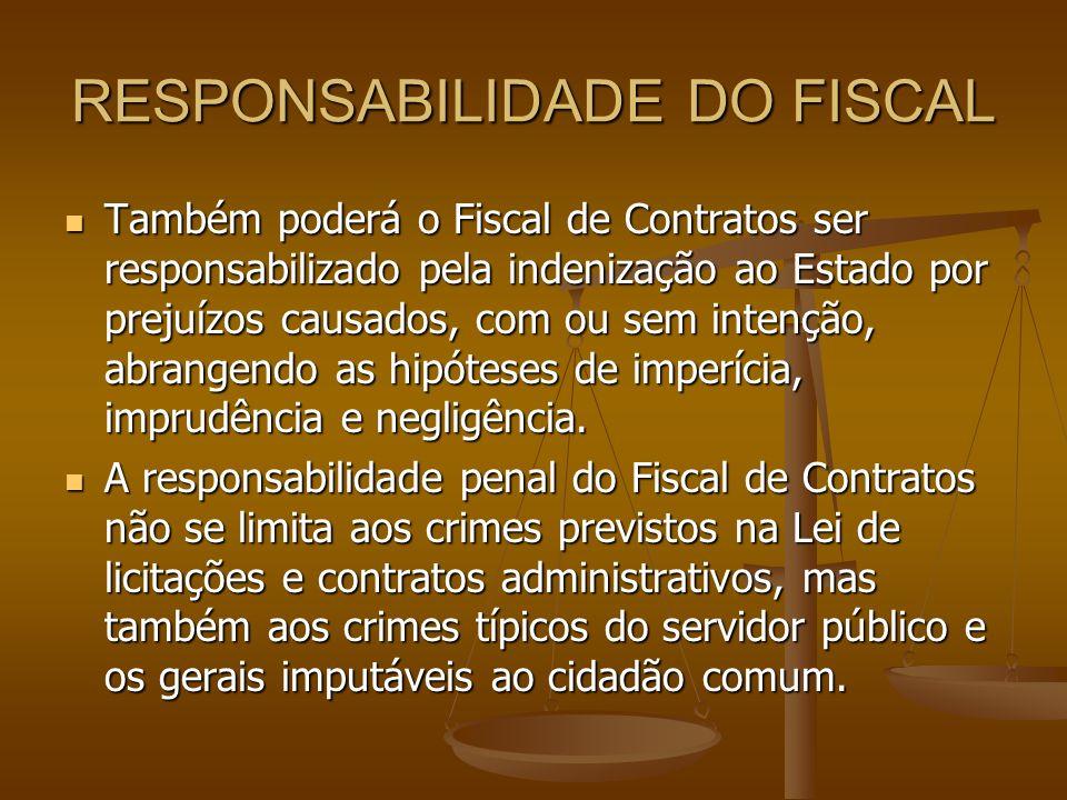 RESPONSABILIDADE DO FISCAL