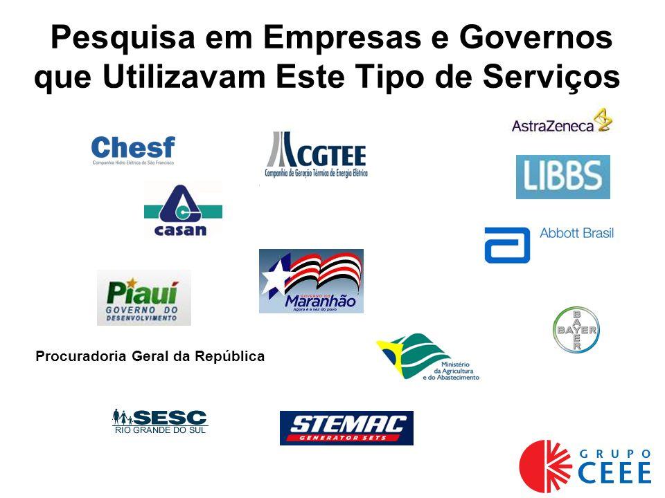 Pesquisa em Empresas e Governos que Utilizavam Este Tipo de Serviços