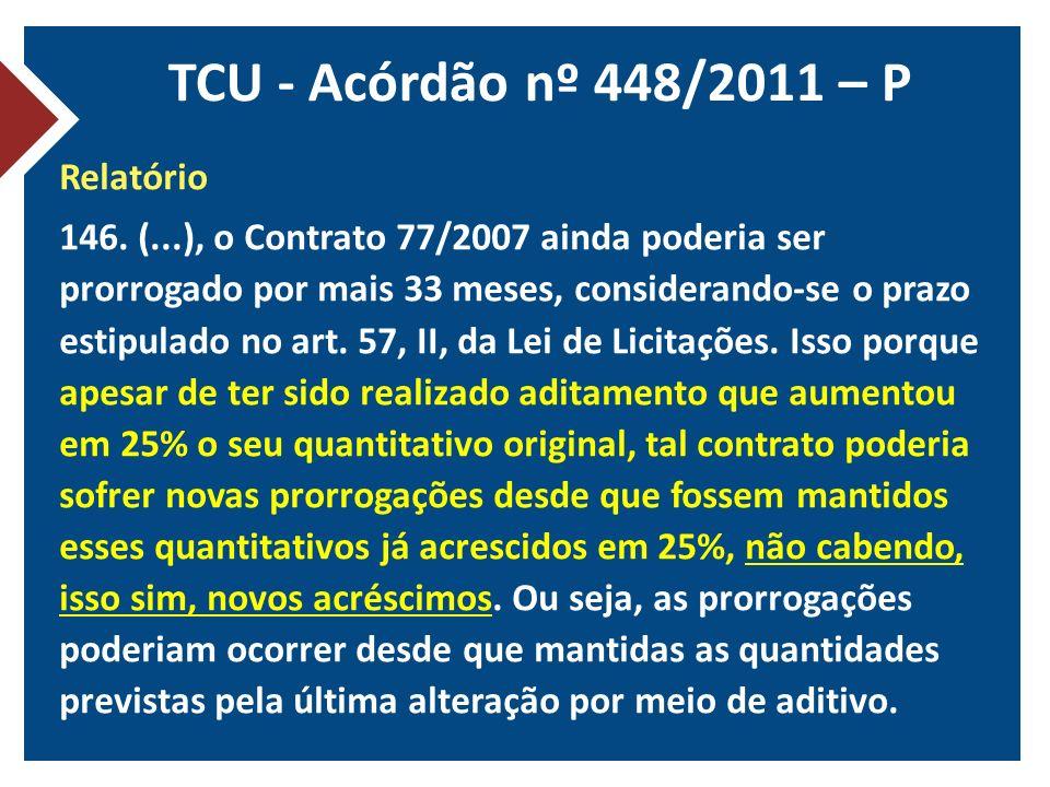 TCU - Acórdão nº 448/2011 – P