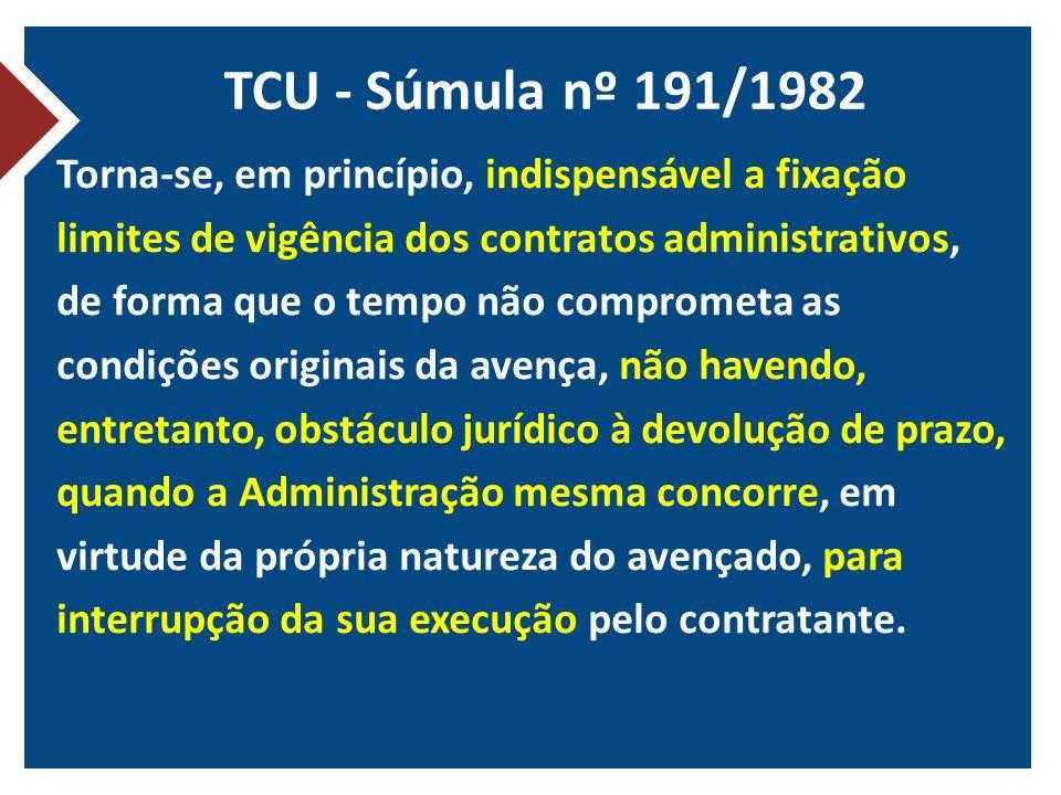 TCU - Súmula nº 191/1982