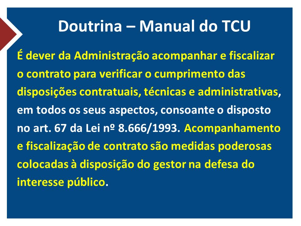 Doutrina – Manual do TCU