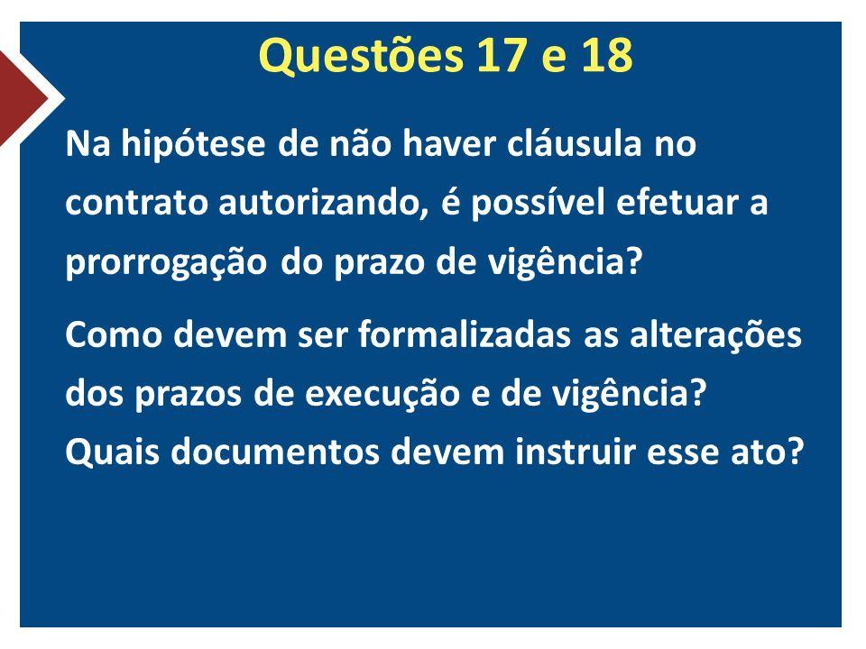 Questões 17 e 18