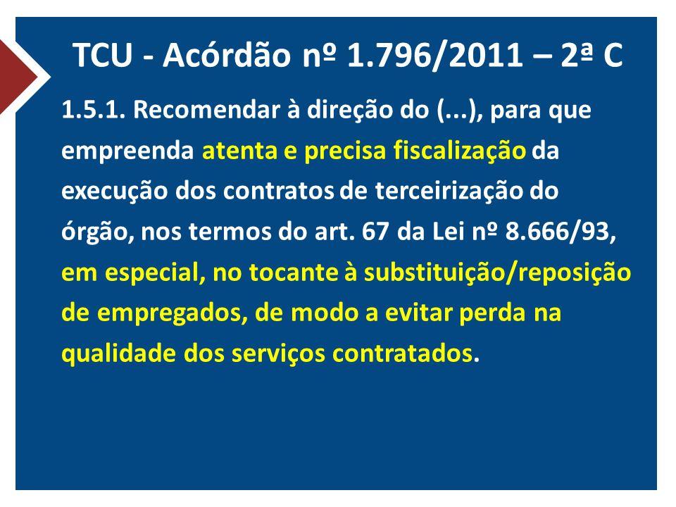 TCU - Acórdão nº 1.796/2011 – 2ª C