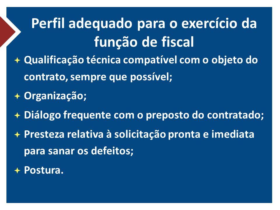 Perfil adequado para o exercício da função de fiscal