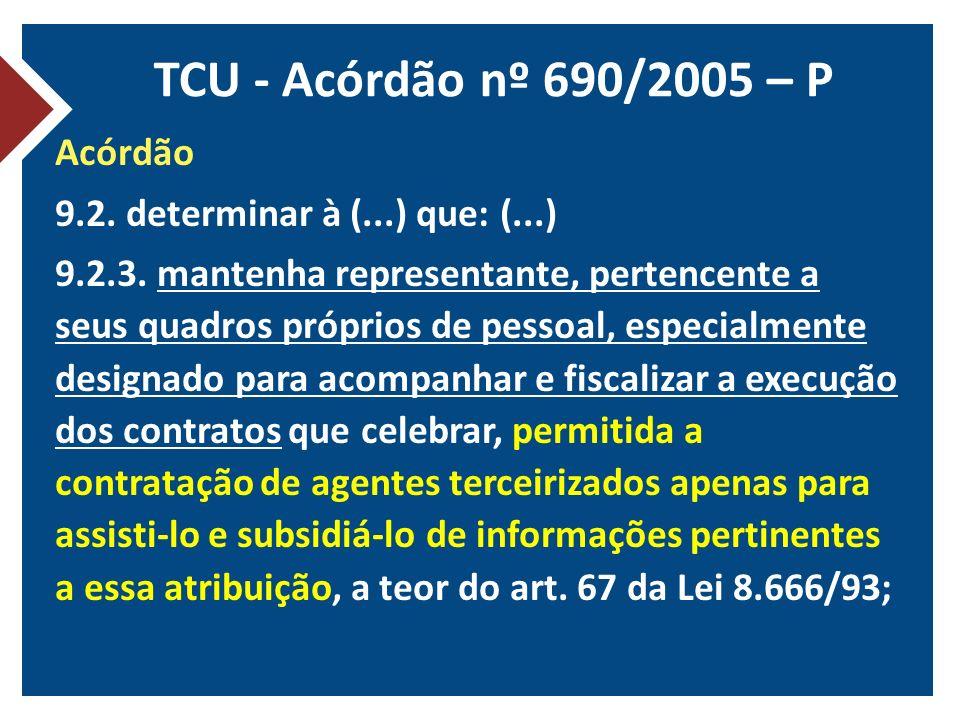 TCU - Acórdão nº 690/2005 – P