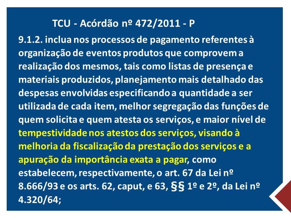 TCU - Acórdão nº 472/2011 - P